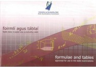 Formulae and Tables (Log Tables)