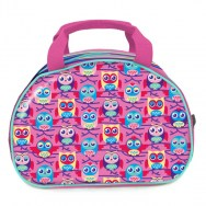 Girls Lunchbag - Sleepy Owls Pink Pvc